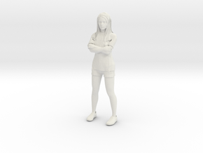 Female in shorts and tshirt 1/29 scale in White Strong & Flexible