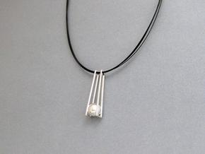 Geometric Trapeze Pendant: Precious Metal Geometry in Premium Silver
