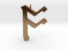Rune Pendant - Ōs in Natural Brass