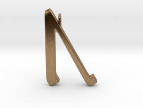 Rune Pendant - Ūr in Natural Brass