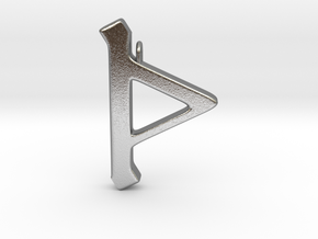 Rune Pendant - Þorn in Natural Silver