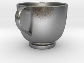 Turkish Coffee Cup in Natural Silver