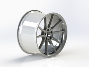 Scaled Performance Wheel in White Processed Versatile Plastic