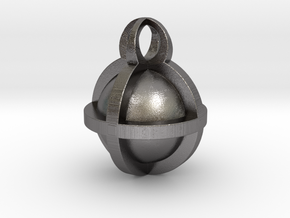 Pendant Sphere 30mm in Polished Nickel Steel