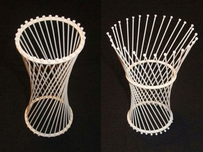 Transformable Hyperboloid in White Strong & Flexible