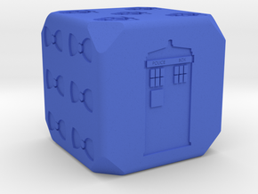 Doctor Who D6 in Blue Processed Versatile Plastic