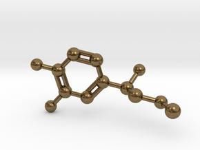 Adrenalin Molecule Pendant BIG in Natural Bronze