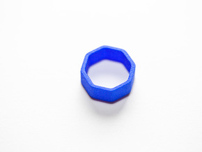 Poly8 Ring in Blue Processed Versatile Plastic: 5 / 49