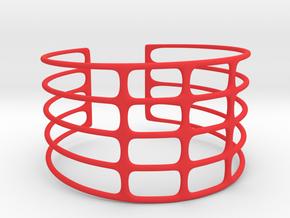 Bracciale07 in Red Processed Versatile Plastic