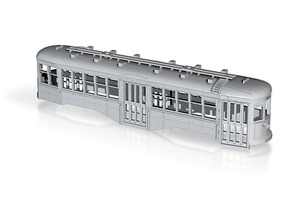 O Scale 1:48 B&QT 8000-series BODY  in White Natural Versatile Plastic