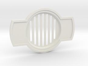 JP Grate Vertical Slots in White Natural Versatile Plastic