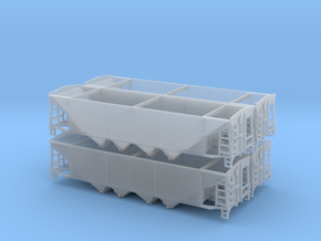 HO P-9 Ballast/Phosphate Hopper - 4 Pack in Smooth Fine Detail Plastic