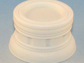 25mm Round Plinth in White Natural Versatile Plastic