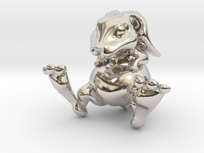 Lucky Bunny Charm in Platinum