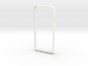 IPhone6 Flexible_bumper in White Processed Versatile Plastic