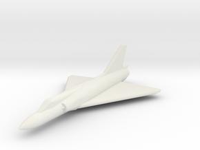 JA13 Mirage IIIC (1/285) in White Natural Versatile Plastic