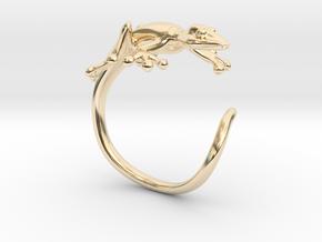 Gekko Wraparound Ring in 14K Yellow Gold