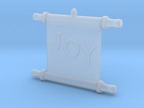 Ornament, Scroll, Joy in Smooth Fine Detail Plastic