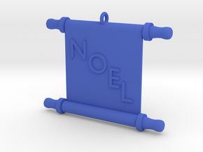 Ornament, Scroll, Noel in Blue Processed Versatile Plastic