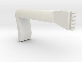 Papoose Shoulder Stock (Long) in White Natural Versatile Plastic