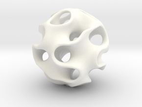 GYRON Sphere - 60mm in White Processed Versatile Plastic