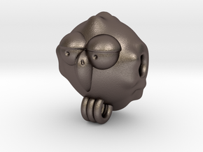 Uccellino 2cm  in Polished Bronzed Silver Steel
