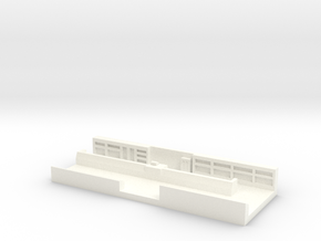 Interieur Magasin 1/220eme Z scale in White Processed Versatile Plastic