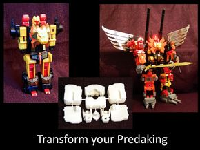 Predaking upgrade kit V2 1 in White Natural Versatile Plastic