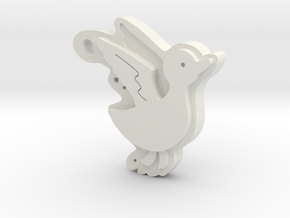 Duck in White Natural Versatile Plastic