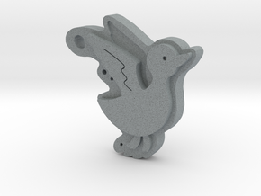Duck in Polished Metallic Plastic