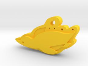 Penguin in Yellow Processed Versatile Plastic