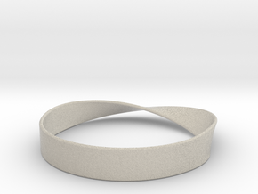 Möbius Bracelet Bangle in Sandstone