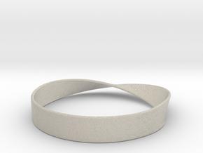 Möbius Bracelet Bangle in Natural Sandstone