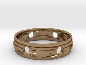 Ring18(18mm) in Natural Brass