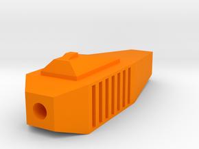 One World Airsoft Flash Hider (14mm Self-Cutting) in Orange Processed Versatile Plastic