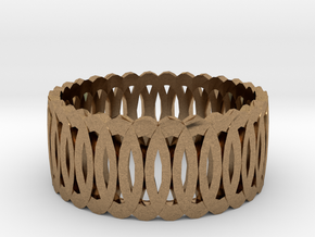 Ring7 in Natural Brass