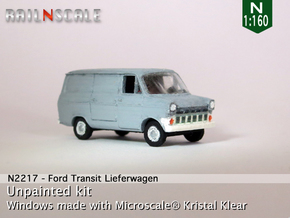 Ford Transit Mk1 Lieferwagen (N 1:160) in Smooth Fine Detail Plastic