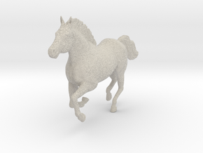 Mustang Horse - Galloping Pose in Natural Sandstone