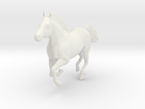 Mustang Horse - Galloping Pose in White Natural Versatile Plastic