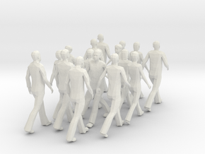 People walking (scale1:10) in White Natural Versatile Plastic