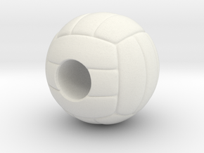 VolleyBall 4U in White Natural Versatile Plastic