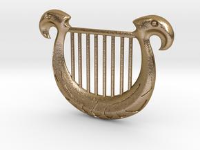 Zelda's Harp in Polished Gold Steel
