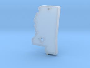 I love Mississippi Pendant in Smooth Fine Detail Plastic