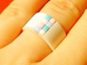 high 8-bit ring (US6/⌀16.5mm)  in White Processed Versatile Plastic