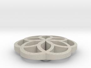 Pendant Hexagon in Natural Sandstone