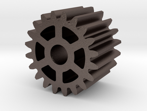 spur gear M1 Z20 in Polished Bronzed Silver Steel