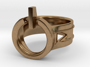 Power Ring Size 7 in Natural Brass