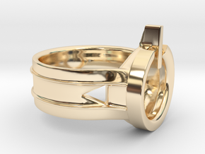 Power Ring Size 5 in 14K Yellow Gold