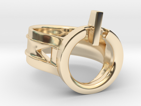 Power Ring Size 6 in 14K Yellow Gold