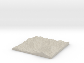 Model of Jennings Creek Camp in Natural Sandstone